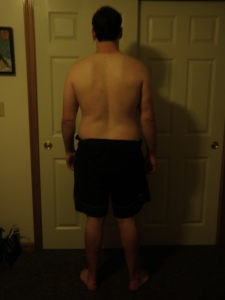 Back shot of first day of fitness program